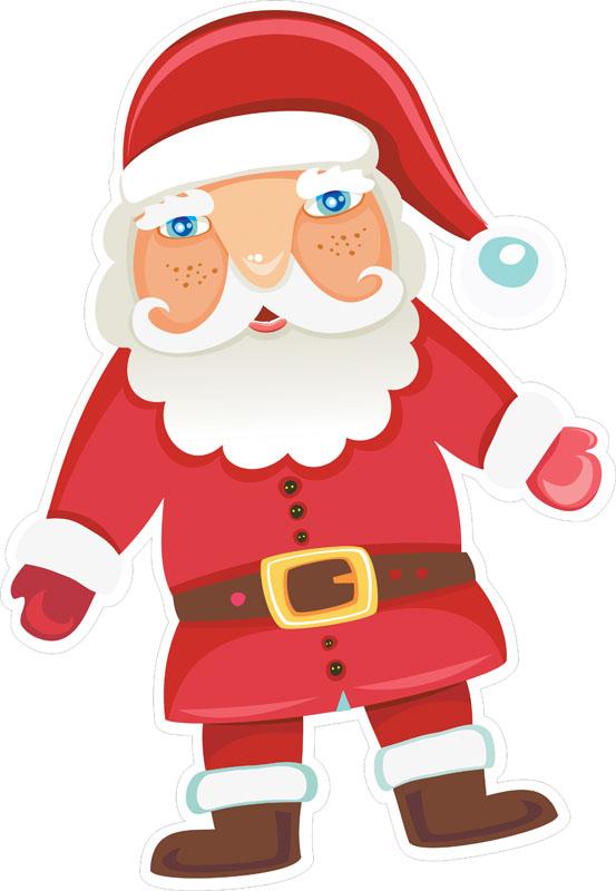 Наклейки Санта-Клаус, дизайн #07823