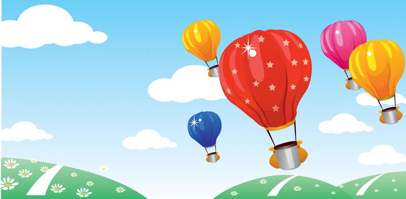 Фотообои под заказ Воздушные шары, дизайн #07860