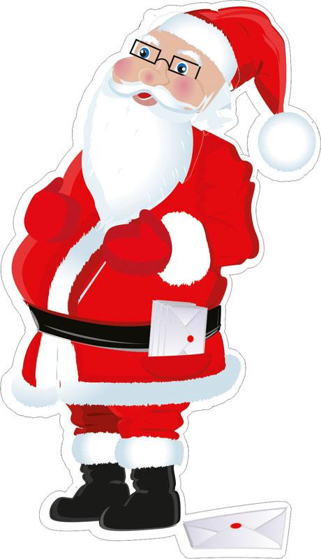 Наклейки Санта Клаус, дизайн #07943