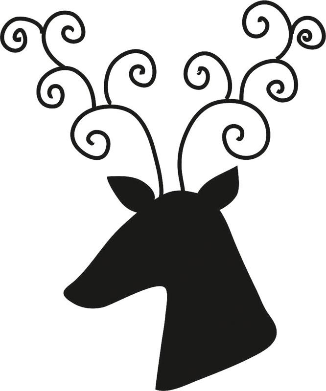 Наклейки Новогодний олень, дизайн #07971