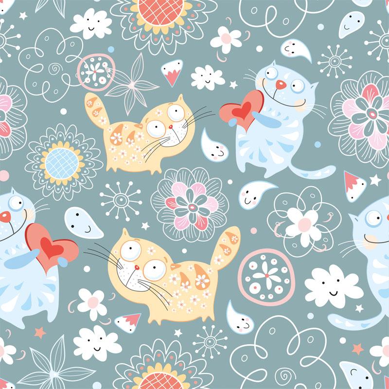 Римские шторы Коты, дизайн #07997